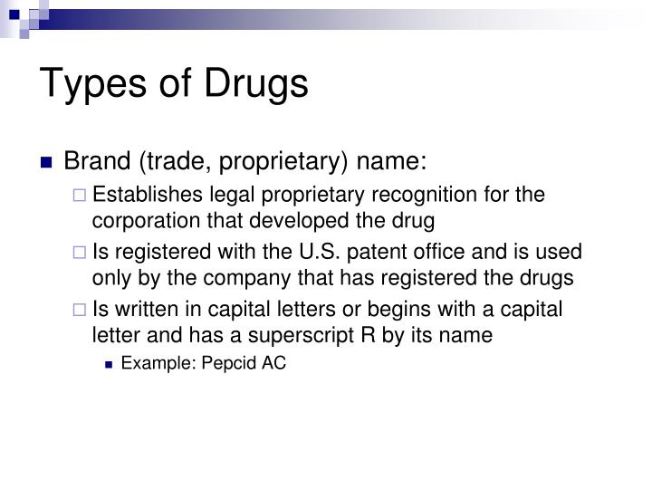 Types of drugs1