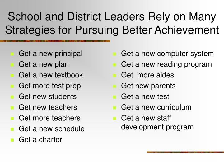 Get a new principal