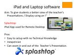 ipad and laptop software