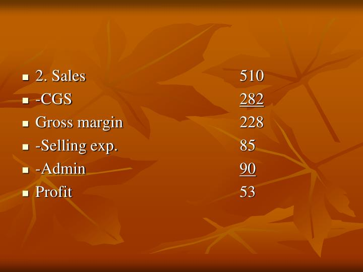 2. Sales510