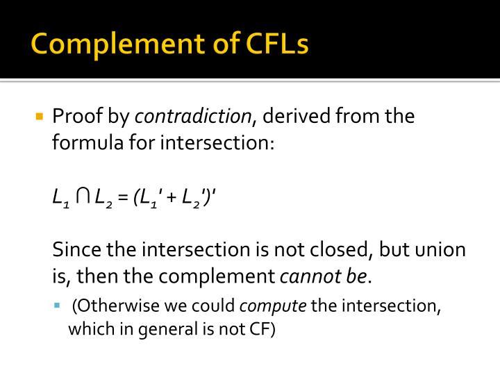 Complement of CFLs