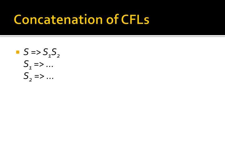 Concatenation of CFLs