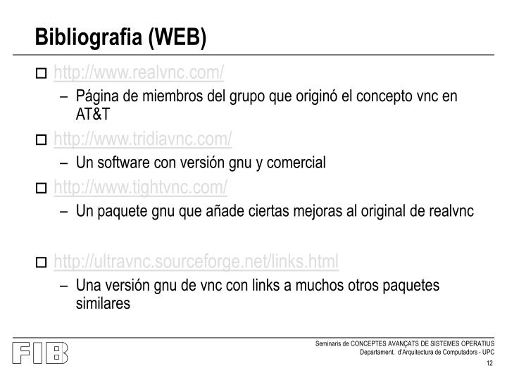 Bibliografia (WEB)