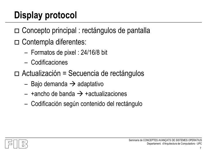 Display protocol