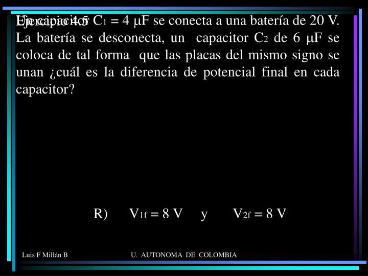 Un capacitor C