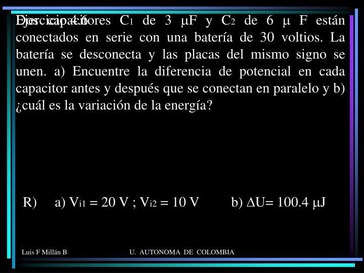 Dos capacitores C