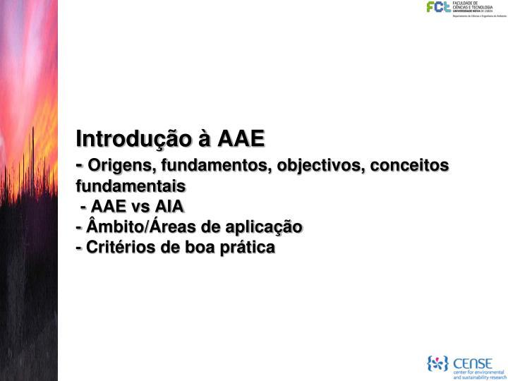 Introdução à AAE