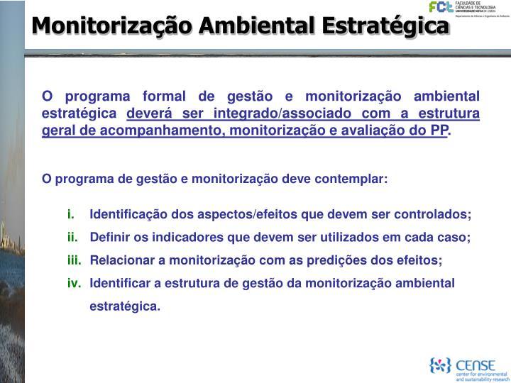 Monitorização Ambiental Estratégica