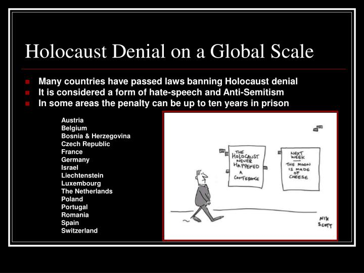 understanding holocaust denial H olocaust denial is the belief that the holocaust did that the current mainstream understanding of the holocaust is and truth and a pseudoscience.