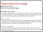 department wide strategy