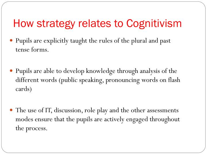 How strategy relates to Cognitivism
