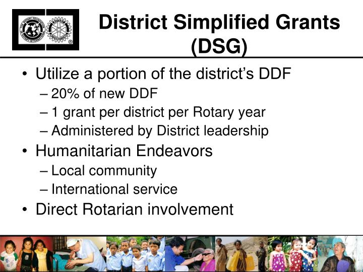District Simplified Grants (DSG)