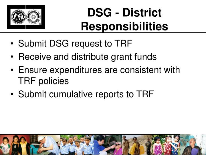 DSG - District Responsibilities