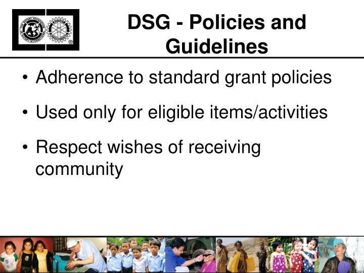 DSG - Policies and Guidelines