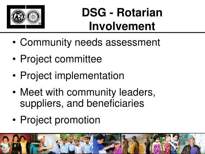 DSG - Rotarian Involvement