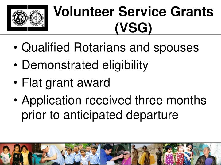 Volunteer Service Grants (VSG)