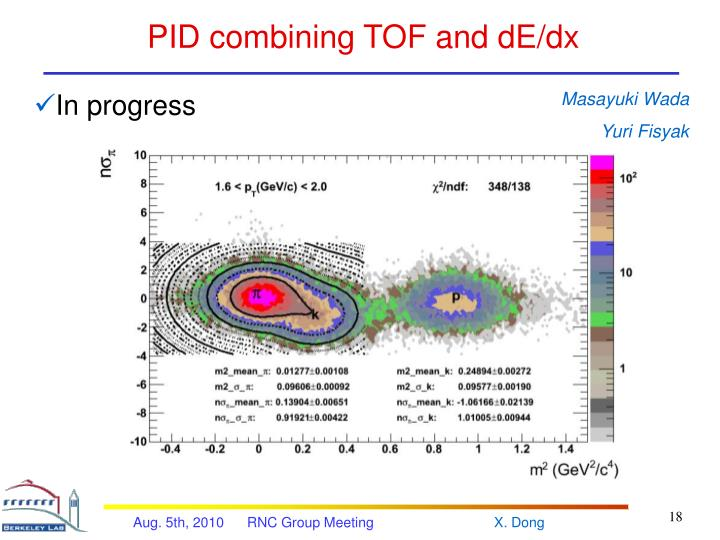 PID combining TOF and dE/dx