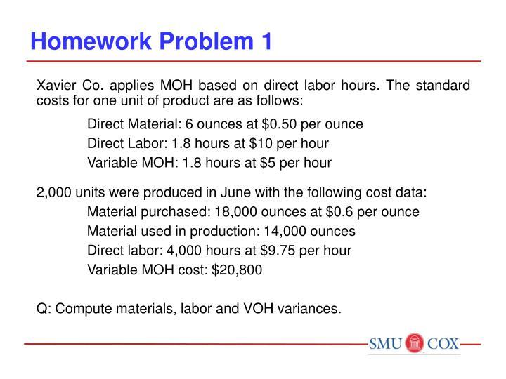 Homework Problem 1