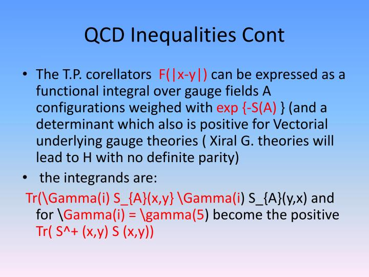 QCD Inequalities Cont