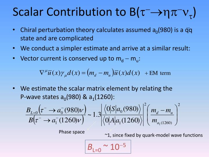 Scalar Contribution to B(