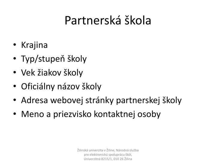 Partnerská škola