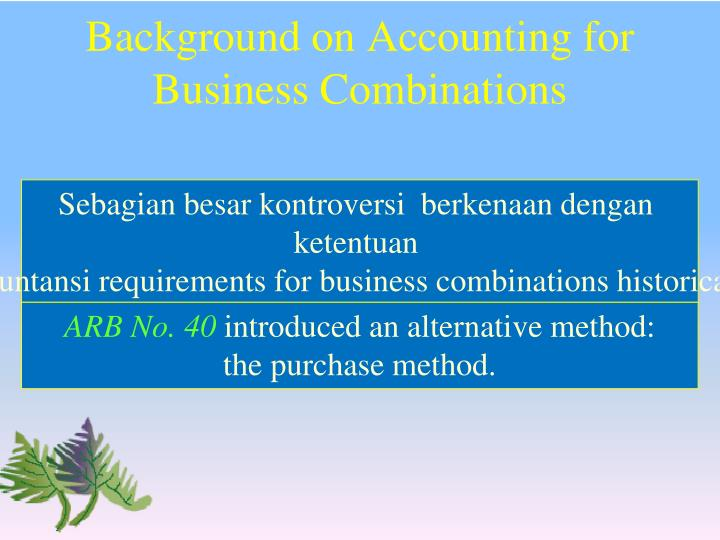 Background on Accounting for