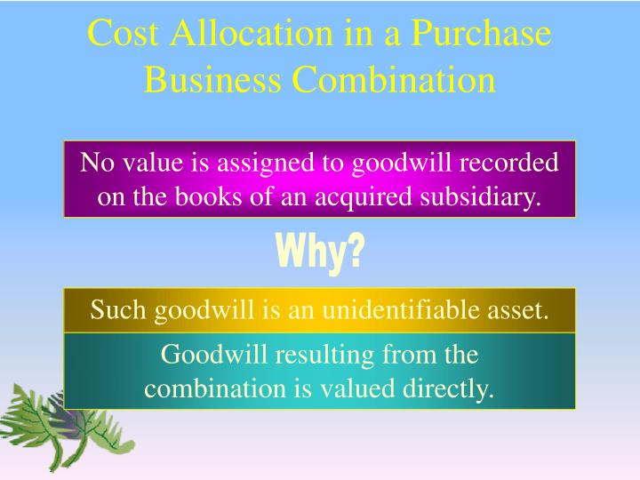 Cost Allocation in a Purchase