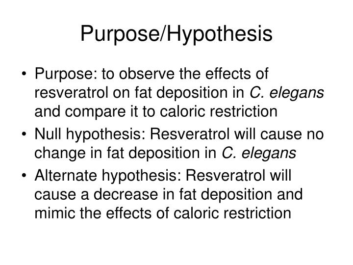 Purpose/Hypothesis