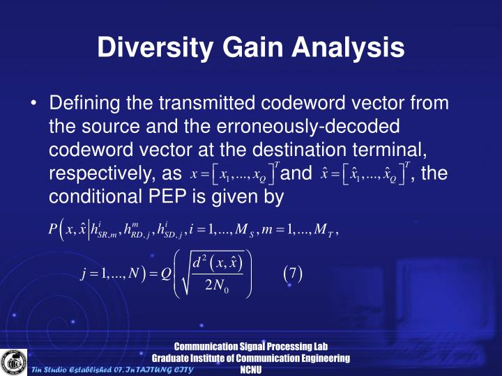 Diversity Gain Analysis