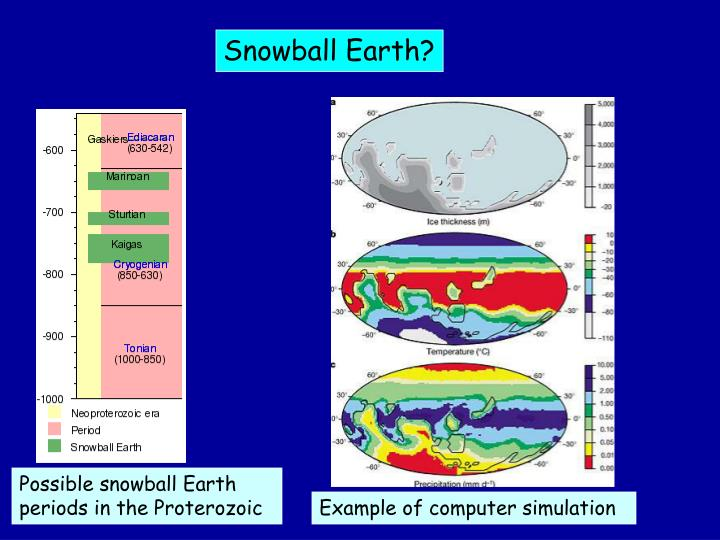 Snowball Earth?