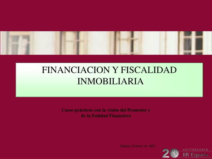 FINANCIACION Y FISCALIDAD