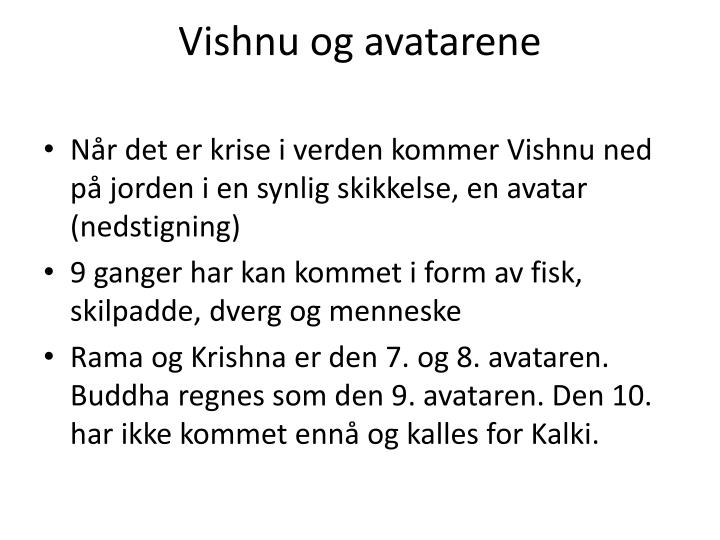 Vishnu og avatarene