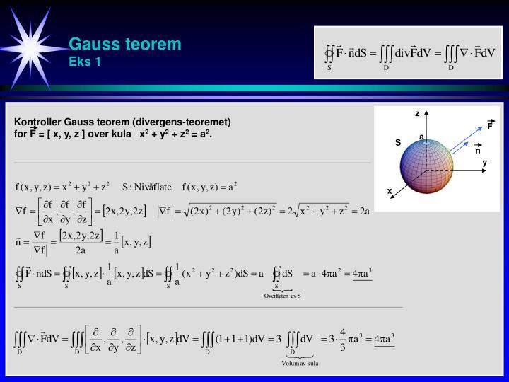 Gauss teorem