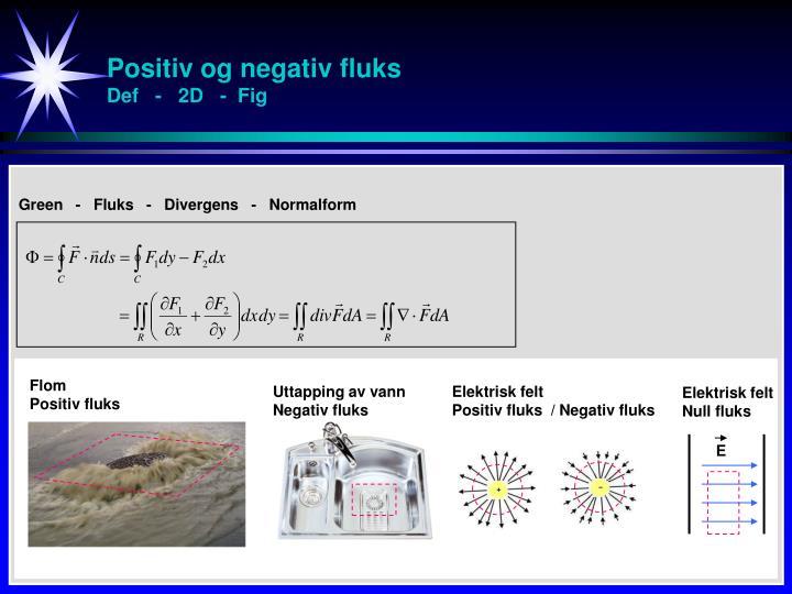 Positiv og negativ fluks