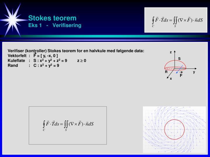 Stokes teorem