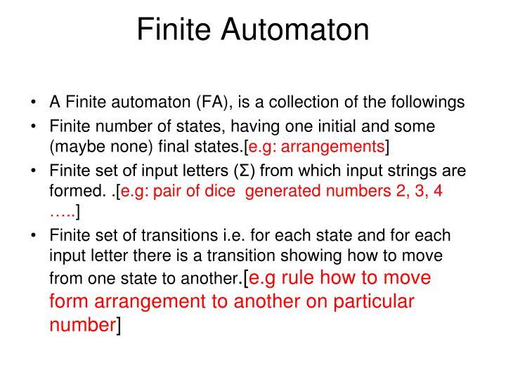 Finite Automaton