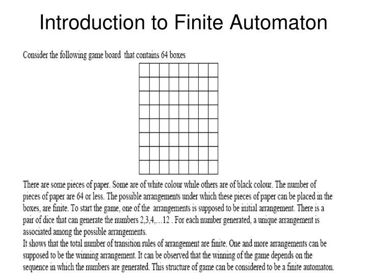 Introduction to Finite Automaton