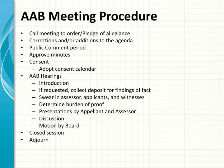 AAB Meeting Procedure