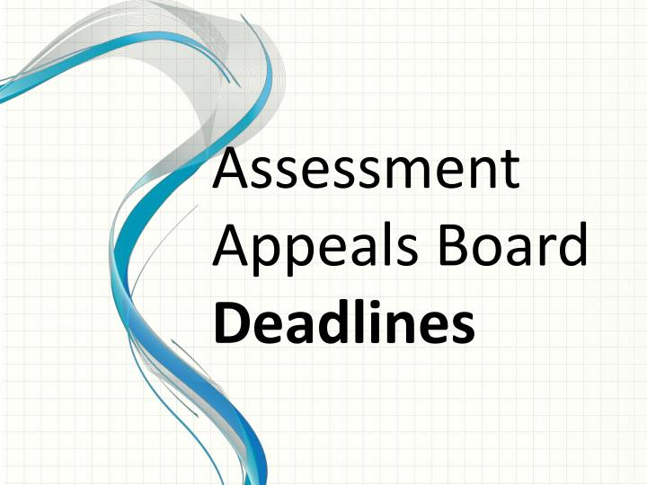Assessment Appeals Board