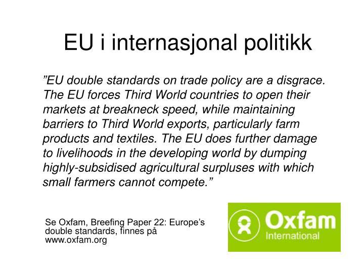 EU i internasjonal politikk