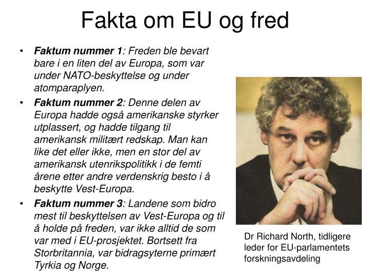 Fakta om EU og fred