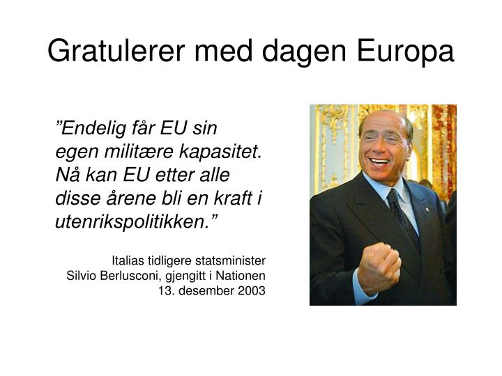 Gratulerer med dagen Europa