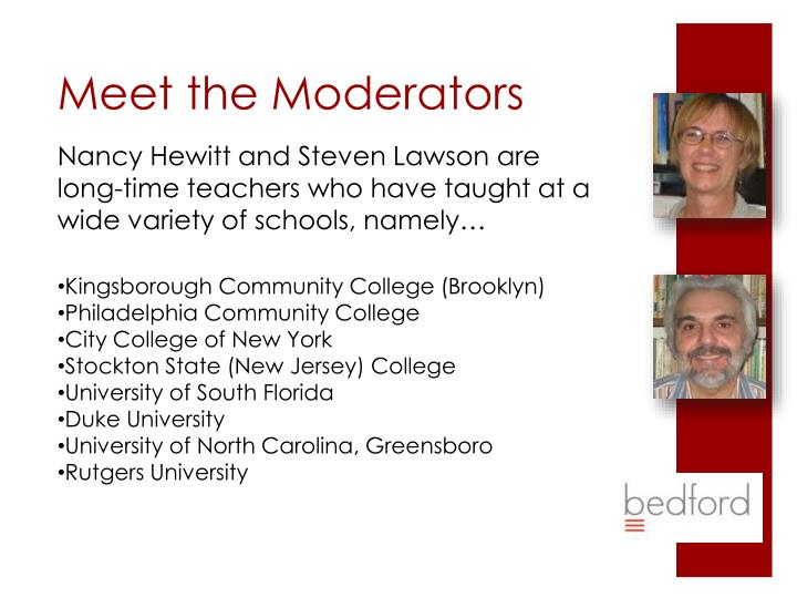 Nancy Hewitt and Steven Lawson are long-time teachers who have taught at a wide variety of schools, namely…