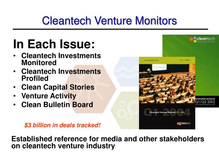 Cleantech Venture Monitors