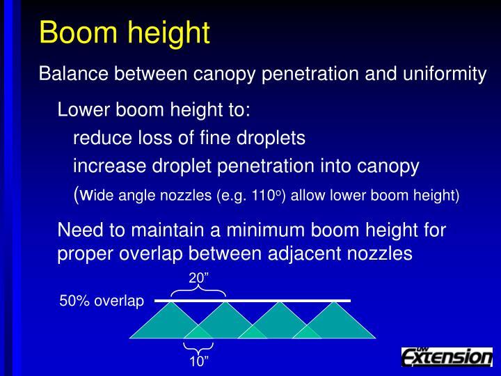 Boom height