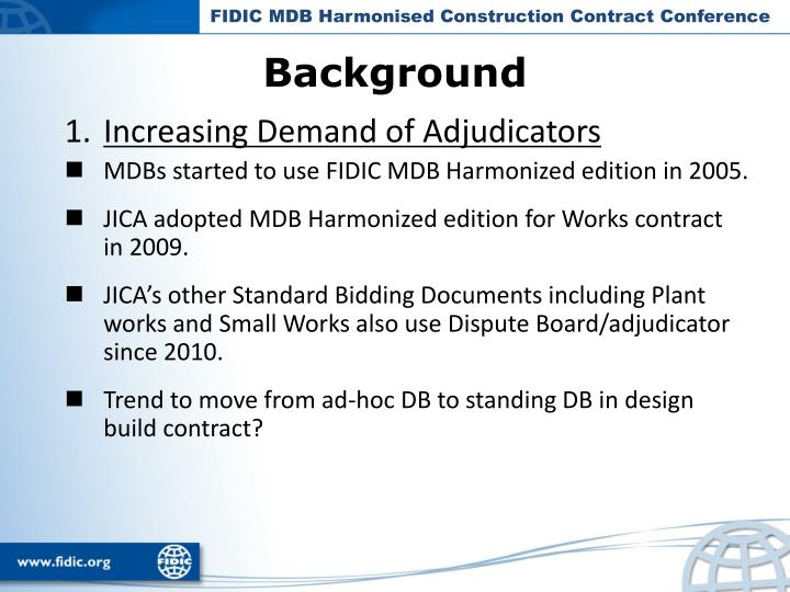 FIDIC MDB Harmonised Construction Contract Conference