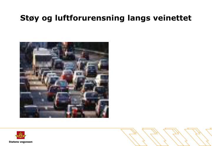 Støy og luftforurensning langs veinettet