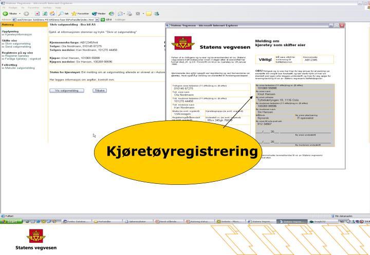 Kjøretøyregistrering