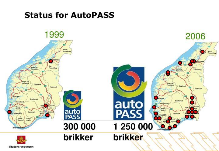 Status for AutoPASS