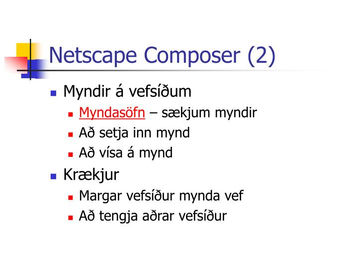 Netscape Composer (2)